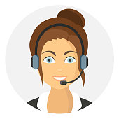 callcenter woman Icon