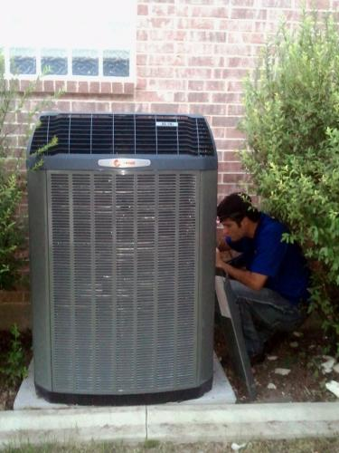 Finishing up 2-Stage Trane Condenser